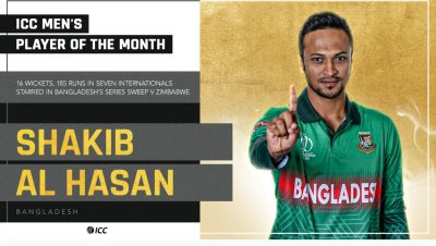 Shakib Al Hassan, Stafanie Taylor voted ICC Players of the Month for July