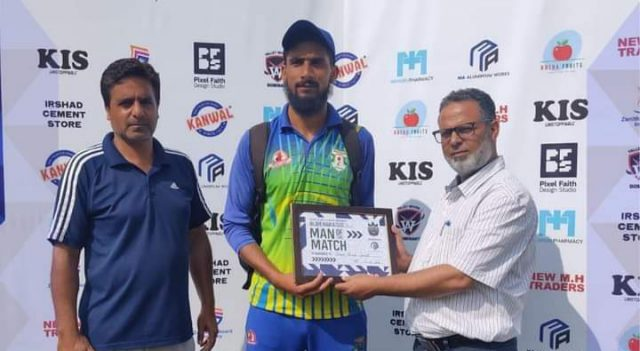 BPL: Zubair Pandit stars for Kashmir Sports Bijbehara in low scoring thriller. Pic/BPL Facebook