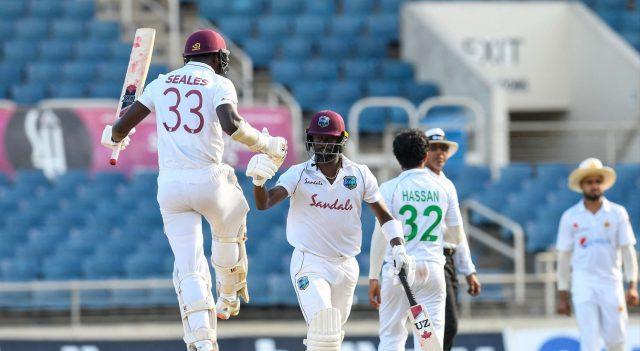 Roach, Seales inspire West Indies in last-wicket thriller. Pic/KSW