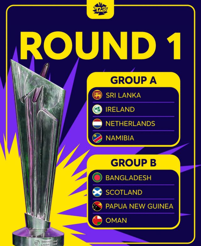 ICC T20 World Cup Full Schedule: India vs Pakistan on October 24. Pic/ICC Graphics