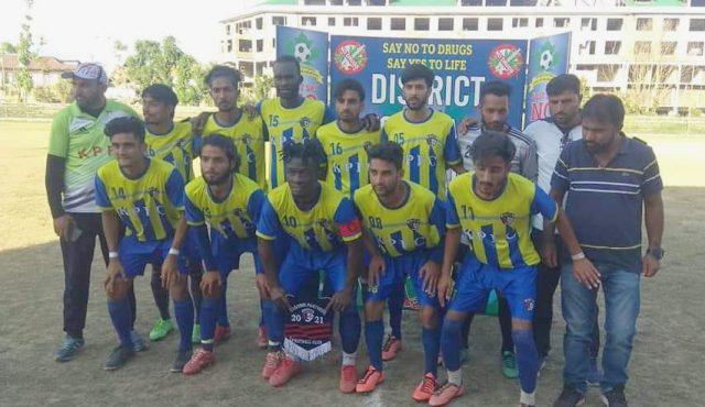 Kashmir Panthers beat Khanabal FC in Anantnag Knockout tourney.Pic/KSW