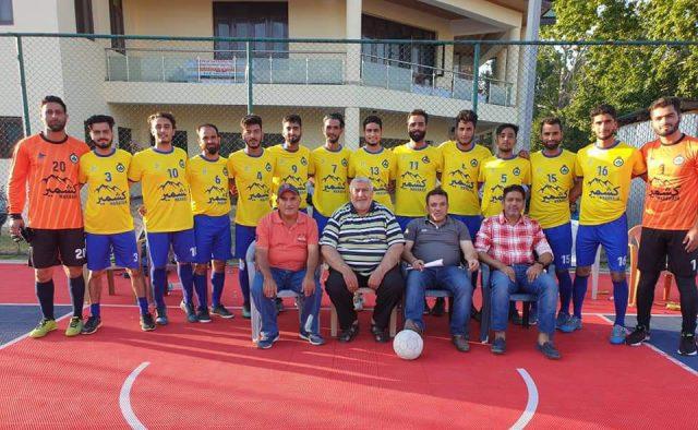 JKFA Futsal Championship: Maharaja Kashmir FC beat Sports Council Blues 6-2. Pic/KSW