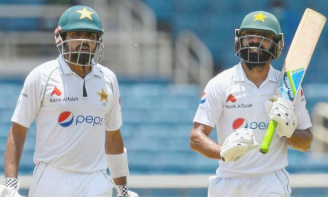 2nd Test: Babar Azam, Fawad Aalam lead Pakistan fightback after top order failure. Pic/PCB