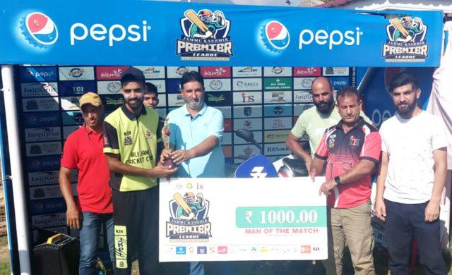 Wahid Teli stars as Ali Jana CC qualify for semifinal of JKPL-1. Pic/KSW