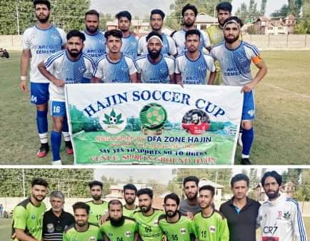 Arco FC beat DFA Budgam,book place in final of Hajin Soccer Cup. Pic/KSW