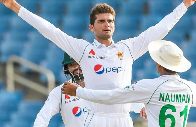 Shaheen Afridi storms to 8th in Test bowling rankings. Pic/PCB