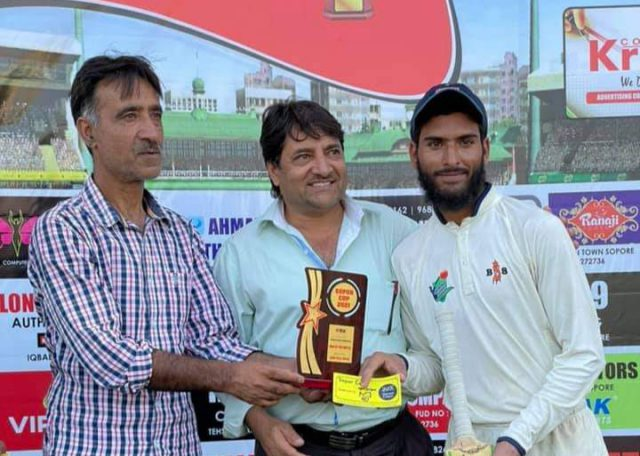 Sopur Cup: Asif Ramzan guides City Gymkhana to win over BCC Bandipora. Pic/KSW