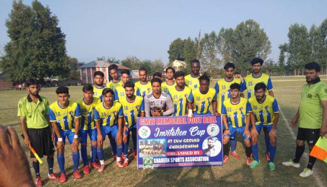 GMW Tourney: Kashmir Panthers FC beat Wakoora FC Ganderbal. Pic/KSW