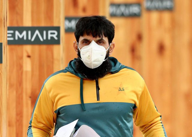 Misbah-ul-Haq tests positive for Covid-19, to remain in quarantine in Jamaica. Pic/PCB Twitter