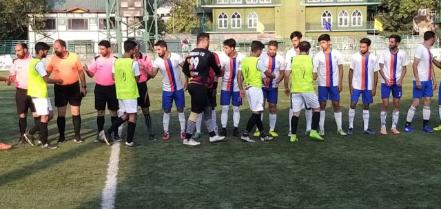 Super Division League: Tawheed FC beat Young Iqbal 2-0. Pic/KSW