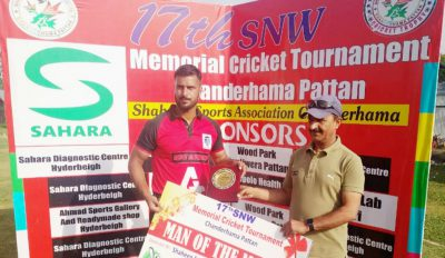 SNW Tourney: Syed Sagar stars as Master XI Ompora beat Friends XI on way to semifinal
