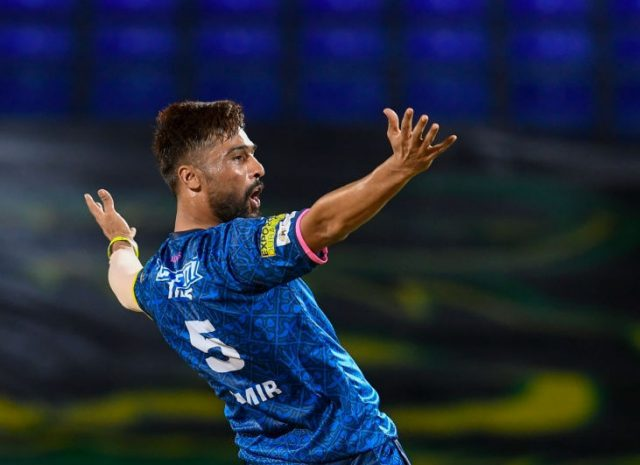 Back in form, Mohammad Amir tops bowling charts in CPL.Pic/KSW