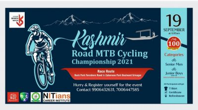 Kashmir Road MTB cycling championship on September 19