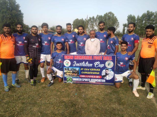 GMW Tourney: Hyderya FC beat Khushaal FC Sopore. Pic/KSW