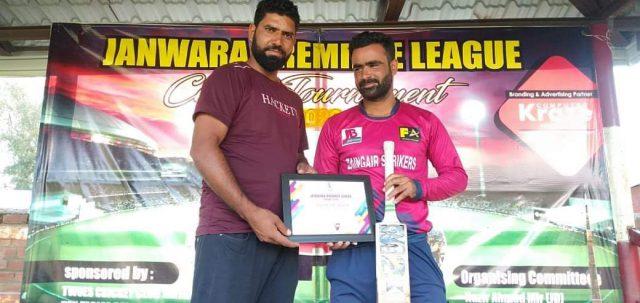 Janwara League: Bilal Habib stars as Murtaza Warriors knock out ACC Hawal Srinagar. Pic/KSW