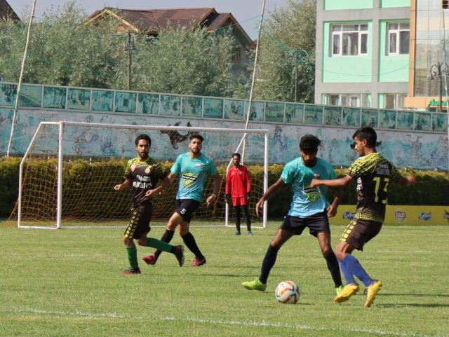 GVEI Football Cup: Downtown Heroes beat Ali Jana FC on way to final. Pic/KSW