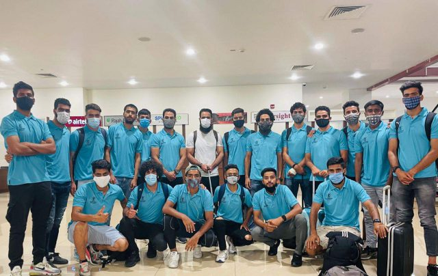 J&K XI who are scheduled to play exhibition match against Kerala Blasters . Pic/Twitter