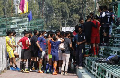 Huge response to Real Kashmir FC U-18 trials in Srinagar