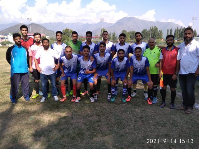 Towheed FC beat Majeed Bagh FC in A-Division league. Pic/KSW