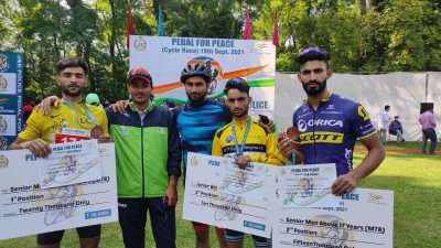 Parvez win JK Police MTB cycle race