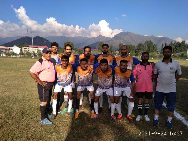 A-Division League: Alamdar FC beat Pandrathan FC. Pic/KSW
