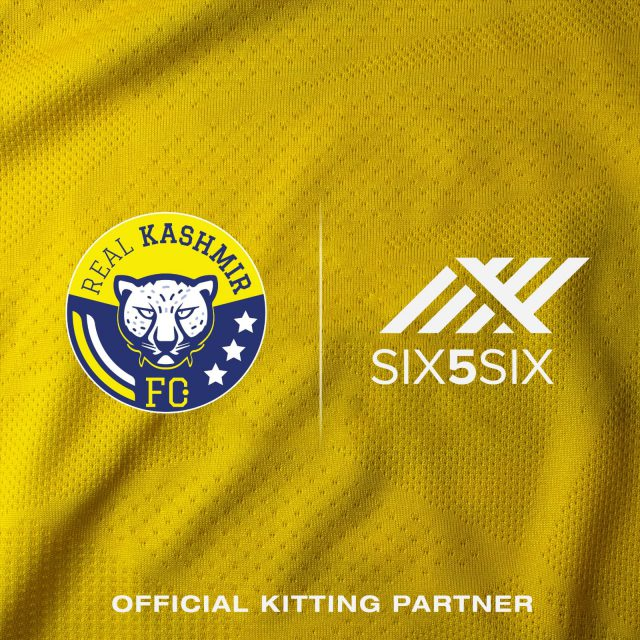 Real Kashmir FC announces SIX5SIX as its kit and merchandise partner. Pic/Graphics