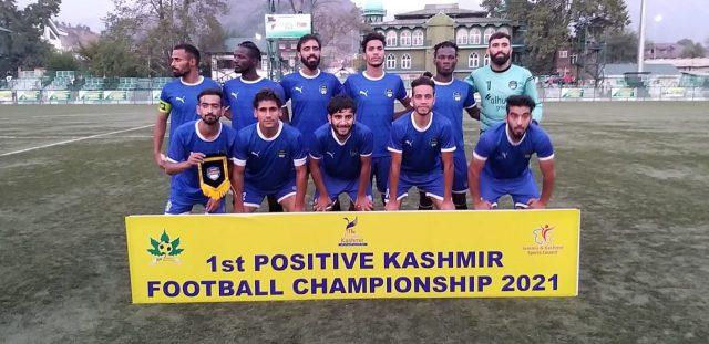 Positive Kashmir Tourney: Kashmir Avengers FC beat Arco FC. Pic/KSW