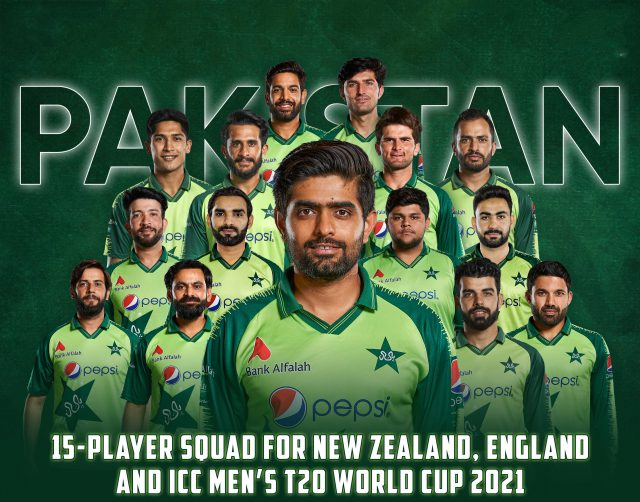 Pakistan announce squad for T20 World Cup. Pic/PCB Graphics