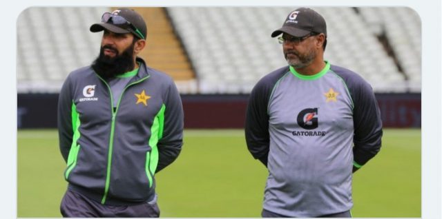 Shoaib Akhtar lashes out at 'Coward' Misbah, Waqar for resigning before T20 World Cup . Pic/PCB Twitter