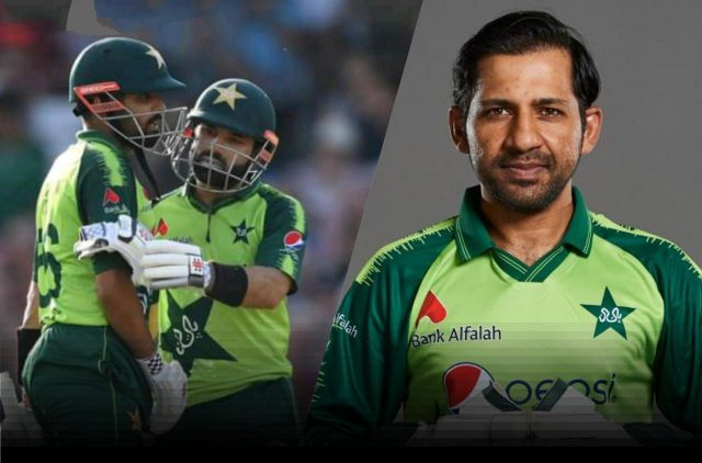 Babar Azam, Mohammad Rizwan in favour of Sarfaraz's inclusion of T20 World Cup squad: Report. Pic / Twitter
