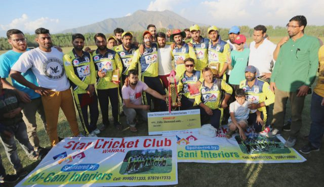 Etihad T20: All-round Touseef Khan leads Star-XI Wanibal to title win. Pic/KSW