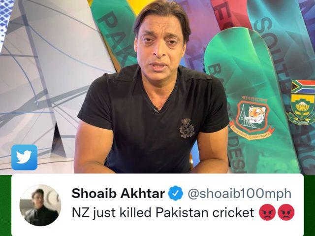 New Zealand just killed Pakistan cricket, says Shoaib Akhtar. Pic/Twitter