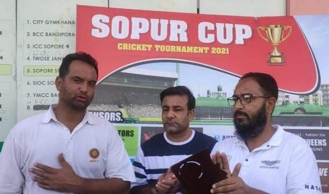 Sopur Cup: Abid Nabi shines as City Gymkhana beat FCC Sopore. Pic/KSW