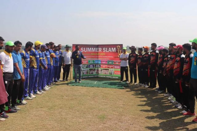 Summer Slam T20 cup inaugurated in Sopore. Pic/KSW