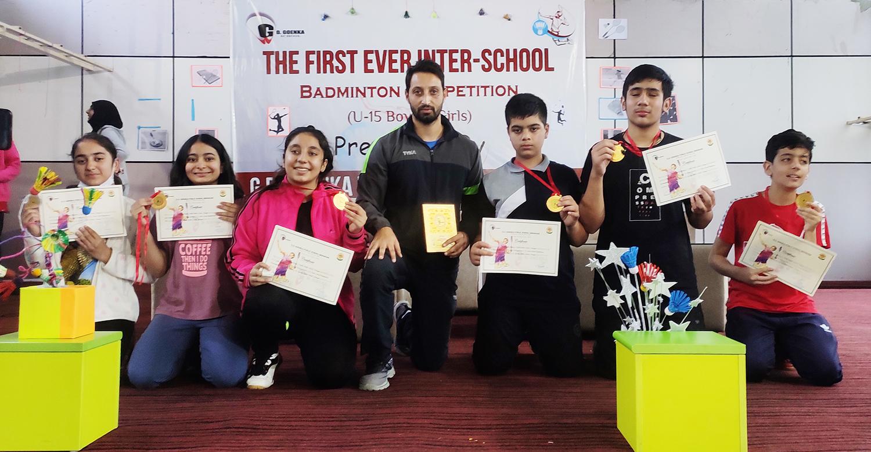DPS Srinagar wins a rich haul in Inter-School badminton championship