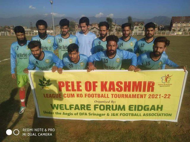 Pele of Kashmir League: Shahr-e-Khaas FAc beat Etihad FC. Pic/KSW
