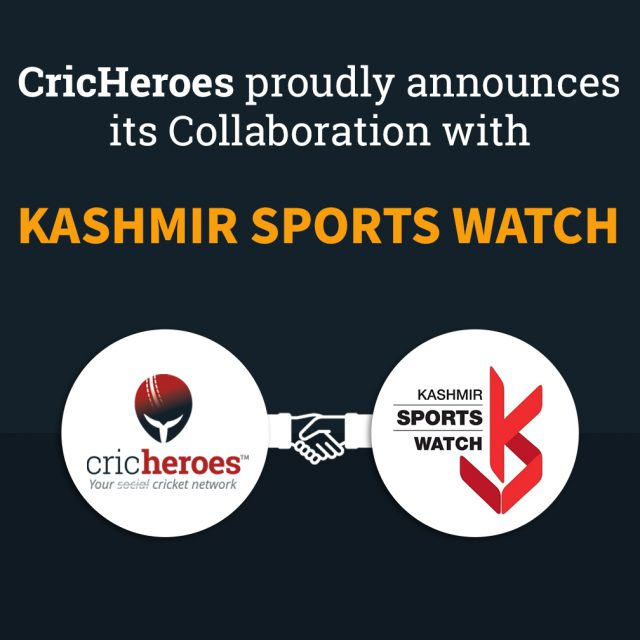 Kashmir Sports Watch and CricHeroes announce collaboration. Pic/Graphics