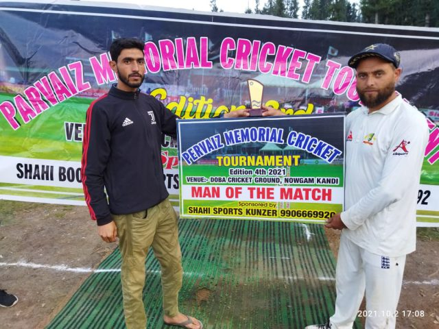 DPL: Dar Shabir shines with ball for BCC against Fatehgarh. Pic/KSW