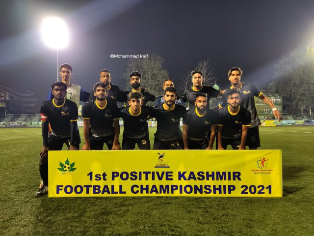 J&K SPDC XI beat Court Road XI by 3-0 in Ist Positive Kashmir tourney. Pic/KSW