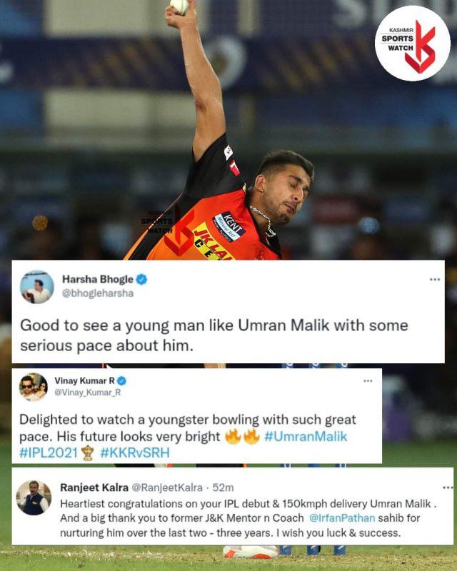 Umran Malik becomes 4th J&K cricketer to play in IPL. Pic/BCCI/IPL/Graphics