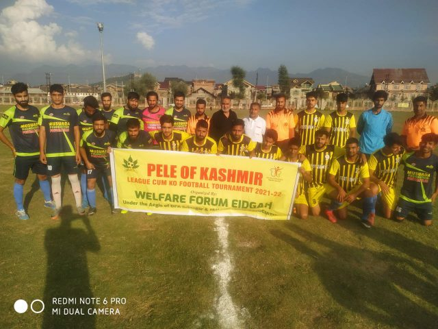 Musada Foundation beat Fort View FC in Pele of Kashmir tourney . Pic/KSW