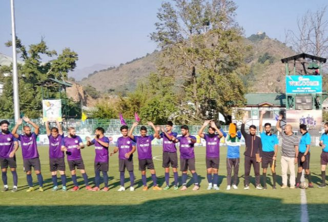 Forest-XI makes stunning comeback to beat J&K Bank Academy. Pic/KSW