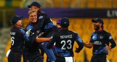 T20 World Cup: Trumpelmann blitz sets up Namibia triumph over Scotland
