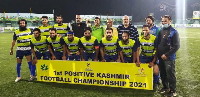 Positive Kashmir Tourney: J&K Police beat Postive Kashmir -XI 3-0. Pic/KSW